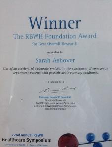 RBWH Symposium Certificate 1