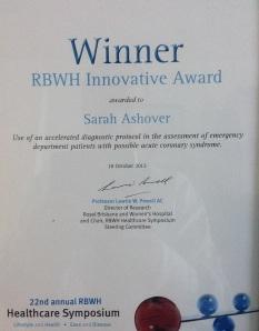 RBWH Symposium Certificate 2
